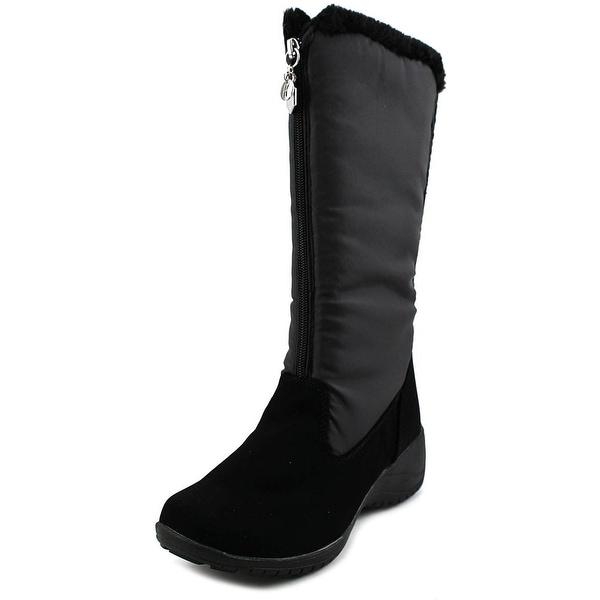 Khombu Amber Women Round Toe Synthetic Black Snow Boot