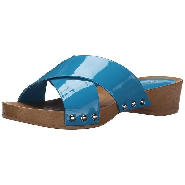 BCBGeneration Womens Soho Open Toe Casual Slide Sandals