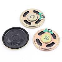 Unique Bargains 3Pcs 0.5W 8 Ohm Internal Magnet Mini Music Loudspeaker Speaker 40mm Dia