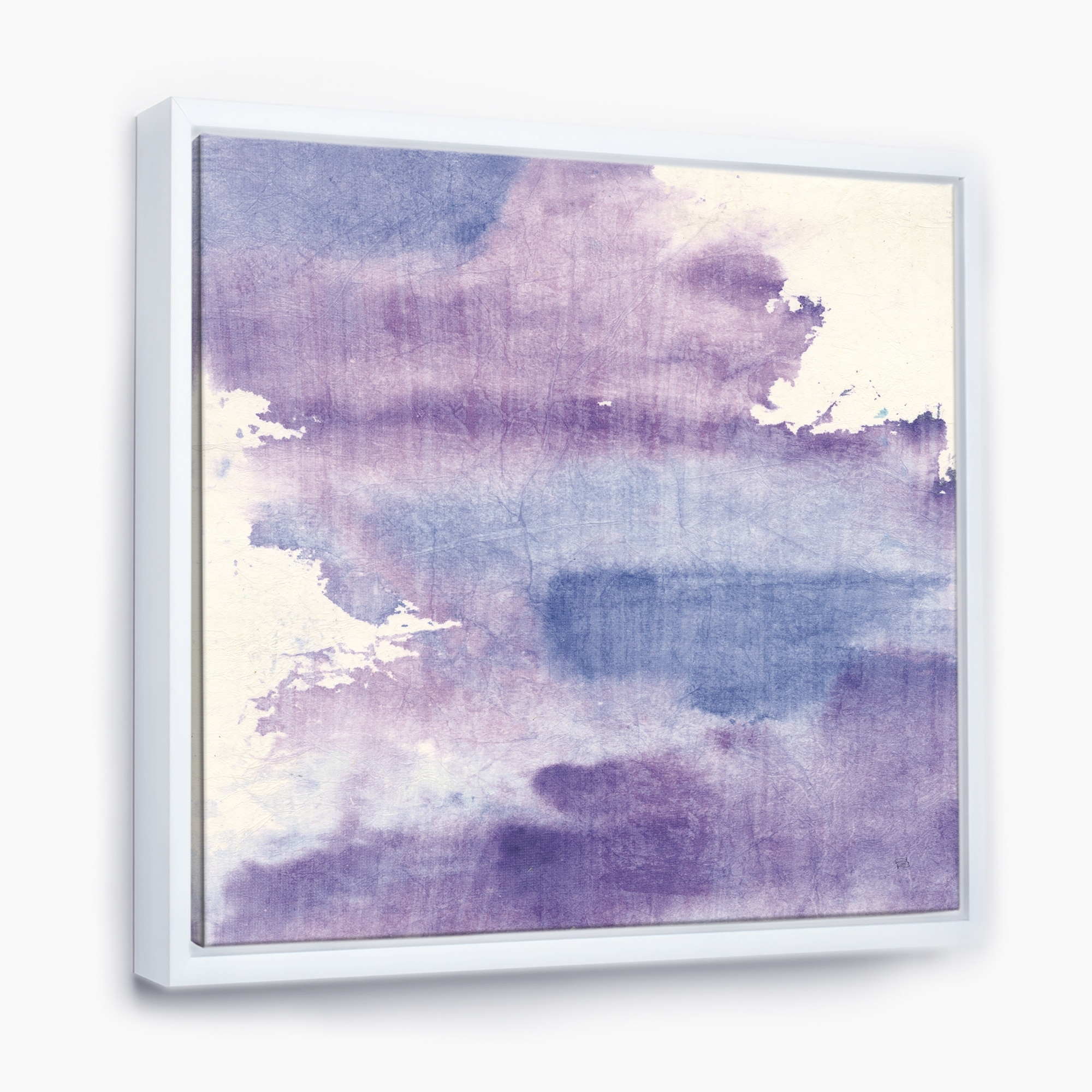 Designart Watercolor Purple Haze I Modern Contemporary Framed Canvas Overstock 25980850 30 In Wide X 30 In High Gold
