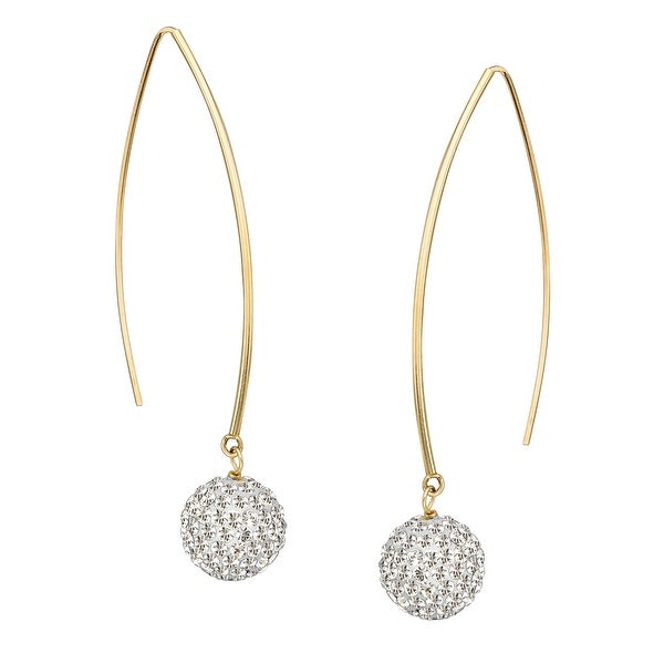 Drop Earrings with Swarovski Crystal Pavé in 14K Gold
