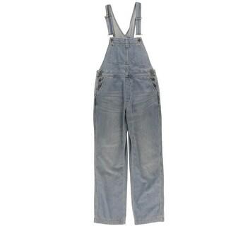 Free People Womens Davis Overall Jeans Denim Bibs