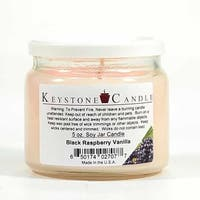 1 Pc 5 oz Black Raspberry Vanilla Soy Jar Candles 3.5 in. diameter x 2.75 in. tall