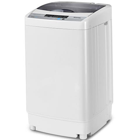 Portable Washing Machine Spin Compact Washer 1.6 Cu.ft Drain Pump