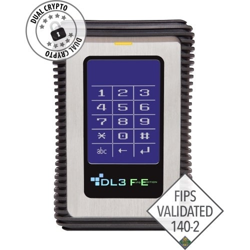 """DataLocker FE1000RFID DataLocker DL3 FE (FIPS Edition) 1 TB Encrypted External Hard Drive with RFID Two-Factor Authentication -"