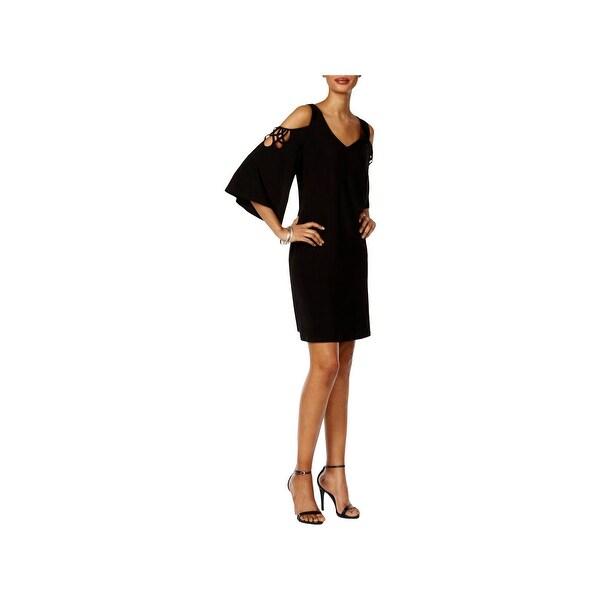 MSK Womens Cocktail Dress Cold Shoulder Mini