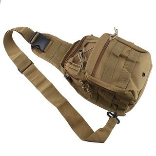 AGPtEK Outdoor Tactical Shoulder Backpack Military & Sport Bag Pack Daypack for Camping Hiking Trekking Sling Yellow