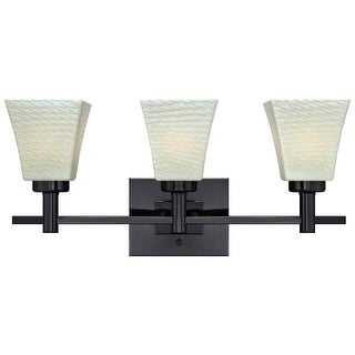 Westinghouse 63437A Wilkes Bathroom Vanity Light with 3 Lights with Lunar Weave