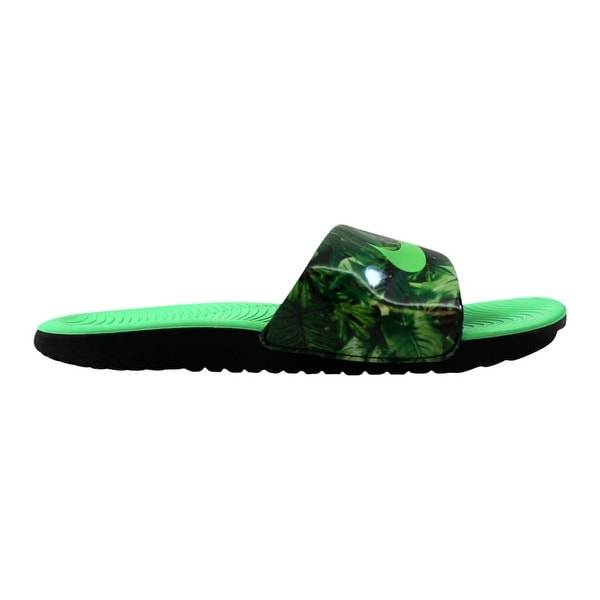f20134c0f3 Shop Nike Kawa Slide Print Black/Electro Green 819358-003 Pre-School ...