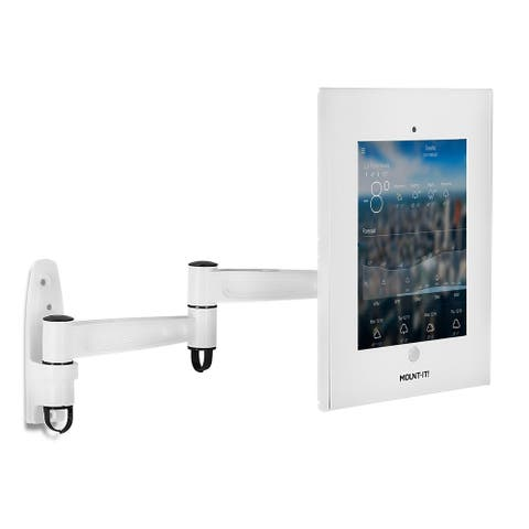 "Mount-It! Tablet iPad Floor Stand Kiosk Mount Standing Tablet Holder, Anti-Theft Apple iPad Screen Sizes 9.7"" (MI-3774W)"