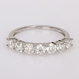 Link to Miadora 1 ct. TGW Moissanite Semi-eternity Sterling Silver Band Ring Similar Items in Rings