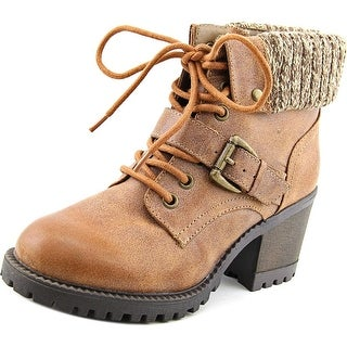Rocket Dog Bailiff Women  Round Toe Synthetic Brown Boot