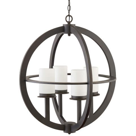 """Hinkley Lighting 1018 Compass Four Light 26"""" Wide Open Air Outdoor - Oil Rubbed Bronze"""