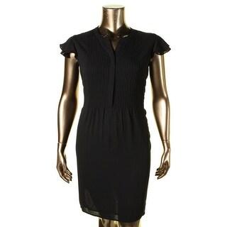 Nine West Womens Semi-Formal Dress Pintuck Ruffle Sleeves - 16