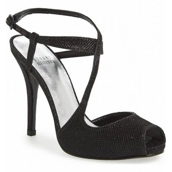Stuart Weitzman NEW Black Women's Shoes Size 10M Inviting Heel