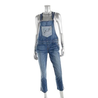 Guess Womens Denim Contrast Trim Overall Jeans - 27
