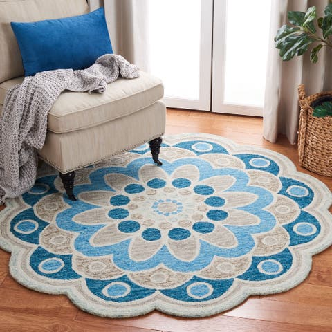SAFAVIEH Handmade Novelty Nidhi Flower Wool Rug