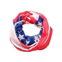 Collection Eighteen Women's American Flag Infinity Scarf - aged red - os