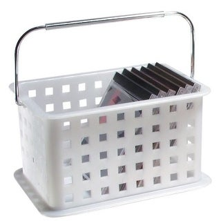 InterDesign 46300 Storage Basket, Medium, Clear