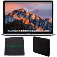 Apple MacBook Pro 15.4-inch Laptop with Touch Bar (Intel Core i7, 512GB Retina Display), Space Gray + Padded Case Bundle