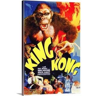 Premium Thick-Wrap Canvas entitled King Kong (1933) - Multi-color