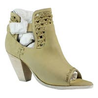 Naughty Monkey Womens Beige Open Toe Heels Size 8