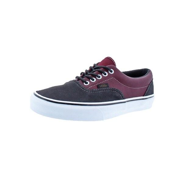 Vans Mens Era Skate Shoes Low-Top Casual Gray 7.5 Medium (D) - 7.5 medium (d)