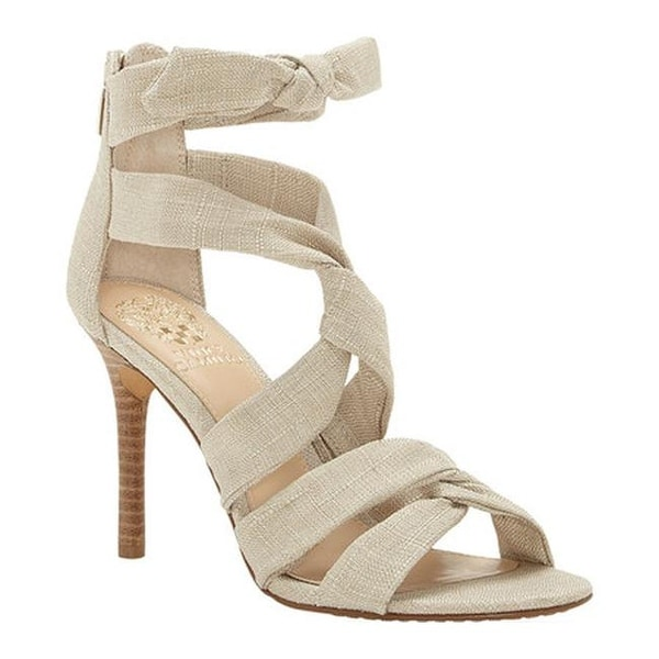 adbc9f94cf4763 ... Vince Camuto Women x27 s Chania Strappy Sandal Soft Beige Natural Linen  best shoes c7824 2ab2c ...