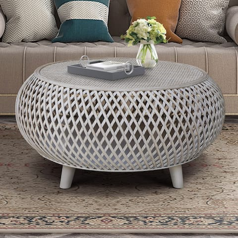 Bora Bora Bamboo/Rattan Round Coffee Table