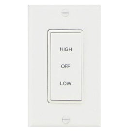 Air Vent 58030 2-Speed Rocker Whole House Fan Switch, White