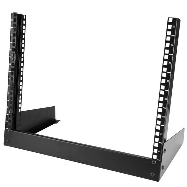 "Startech Rk8od 8U 19""Desktop Rack Open Frame Rail Components - Black"