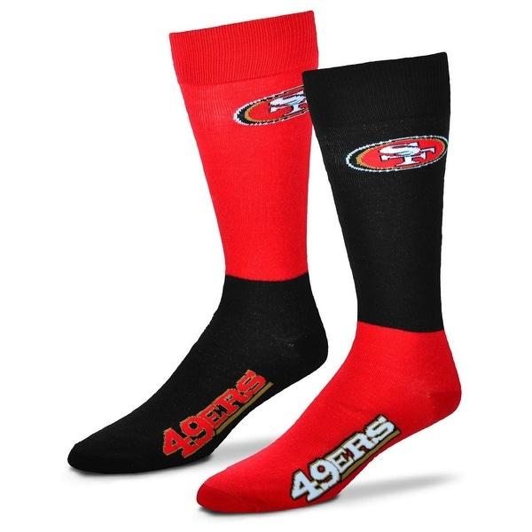 San Francisco 49ers 4 Square mismatched socks