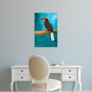 Easy Art Prints Keren Su's 'Rufous Hornbill I' Premium Canvas Art