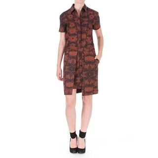Cynthia Rowley Womens Printed Short Sleeves Wear to Work Dress - 0