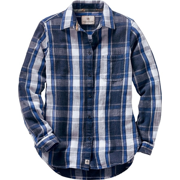 Legendary Whitetails Ladies Sterling Ridge Plaid Shirt - indigo plaid