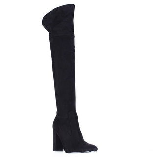 Ivanka Trump Riviera Over The Knee Heeled Boots - Black