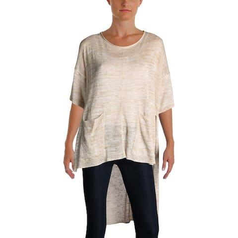 Free People Womens Pullover Sweater Melange Hi-Low