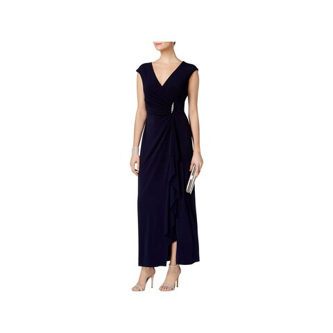 Connected Apparel Womens Evening Dress Embellished Ruched