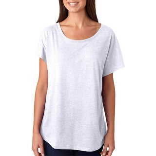 Next Level Women's Tri-Blend Dolman Scoop Neck T-Shirt - Vintage White - Small
