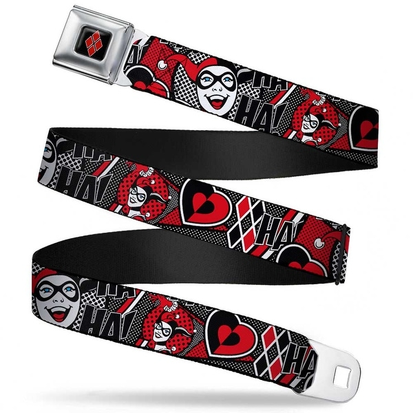 Harley Quinn Diamond Full Color Black Red Harley Quinn Poses Hahaha! Seatbelt Belt