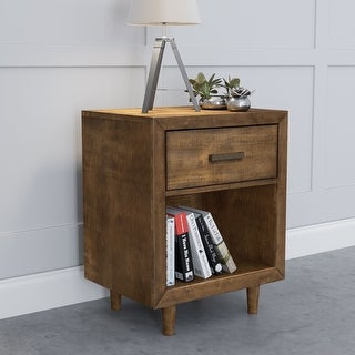 Link to Abbyson Retro Mid Century Wood Nightstand with USB Ports Similar Items in Bedroom Furniture