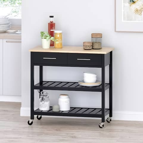 Neffs Indoor Kitchen Cart with Wheels by Christopher Knight Home