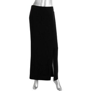 Kensie Womens Crepe Slit Maxi Skirt