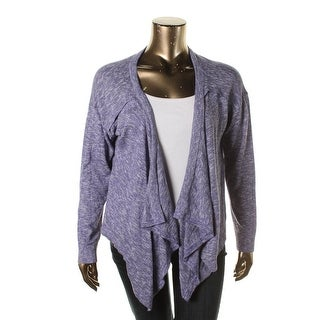 Kensie Womens Knit Ribbed Trim Cardigan Sweater - M