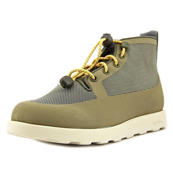 Native Fitzroy Junior Youth Round Toe Canvas Green Boot