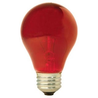 GE 49727 Party Light Colored Light Bulb, 25 Watt, Red