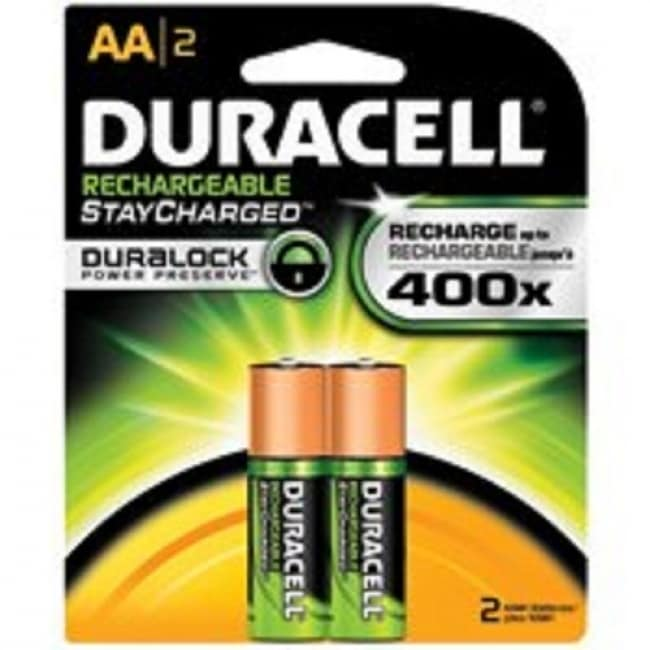 Duracell 66153 Rechargeable Battery, 2 AA