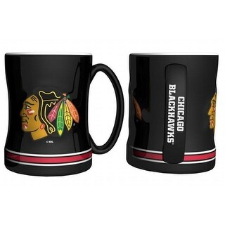 Chicago Blackhawks Coffee Mug - 14oz Sculpted Relief