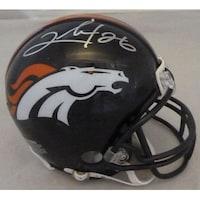 36f721c7521 Shop Clinton Portis Denver Broncos Autographed Navy Blue Jersey ...