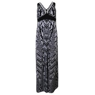 Style & Co. Women's Embellished Zig Zag Maxi Dress - s